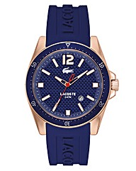 Lacoste Gents Blue Silicone Strap Watch
