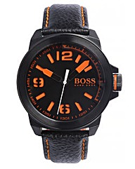 BOSS Orange Gents Leather Strap Watch