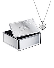 Personalised Heart Pendant & Trinket Box