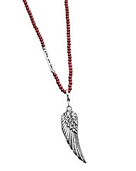 Angel Wing Long Bead Necklace
