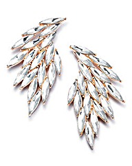 Gold-tone Feather Earrings