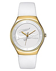 Lacoste Ladies White Strap Watch