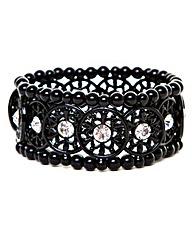 Gothic Style Black Stretch Bracelet