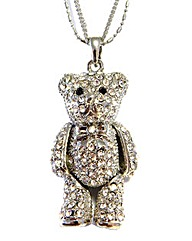 Diamante Teddy Necklace