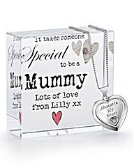 Personalised Heart Pendant & Plaque