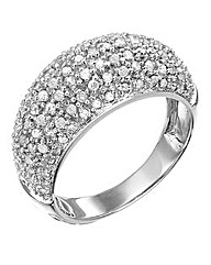 White Gold 1 Carat Diamond Pave Ring