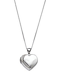 9 Carat Gold Heart Locket Pendant