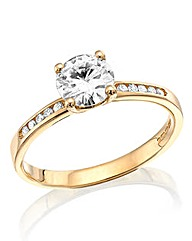 Moissanite 9 Ct Gold 1 Carat Dress Ring