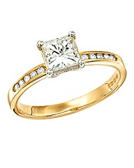 Moissanite 9 Carat Gold 1.15 Carat Ring