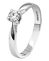 Moissanite 9 Carat Gold 1/4 Carat Ring