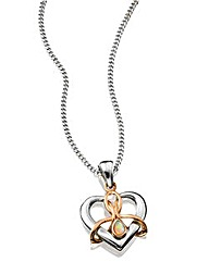 Clogau Sterling Silver and 9 Carat Rose