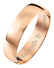 Personalised Rose Gold Gents Band