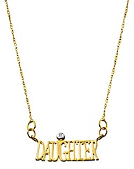 9 Carat Gold Diamond-Set Family Necklet