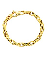 9 Carat Gold Chunky Ladies Bracelet