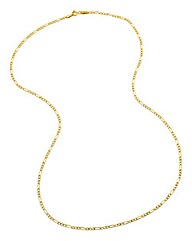 9 Carat Gold 20inch Figaro Chain