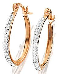Crystal Glitz Hoop Earrings