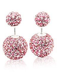 Crystal Glitz Double Ball Stud Earrings