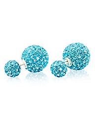Crystal Glitz Double Ball Stud Earrings