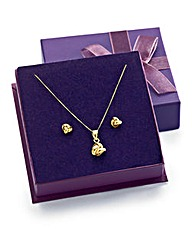 9 Carat Gold Pendant & Earrings Gift Set