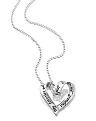 Sentimental Heart Shaped Grandma Pendant