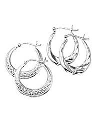 Set of 2 Hollow Hoop Earrings