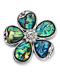 Flower-Shaped Brooch