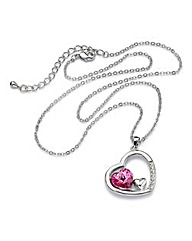 Spangles Crystal Heart-Shaped Pendant