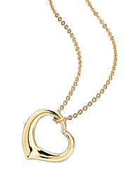 Gold-plated Diamond Accent Heart Pendant