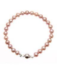 Sterling Silver Pink Pearl Bracelet