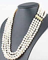 Four Row Pearl Necklace