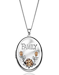 Personalised Large Family Photo Locket