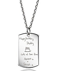 Personalised Handwritten Tag Pendant