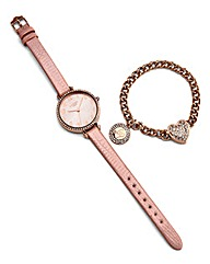 Lipsy Rose Watch and Bracelet Set