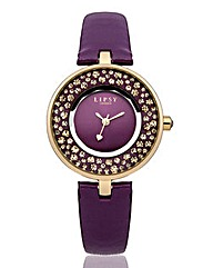 Lipsy Ladies Purple Strap Watch