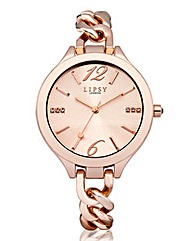 Lipsy Rose-tone Bracelet Watch