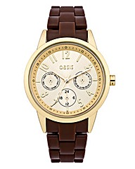 Oasis Ladies Brown Strap Watch