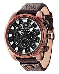 Police Gents Rose-gold Plated Watch