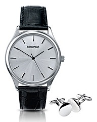 Sekonda Gents Watch and Cufflinks Boxed
