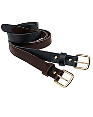 Bonded Leather Belts Pack of 2