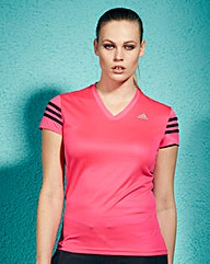 Adidas 3 Stripes Fitness T-Shirt