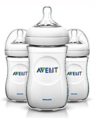 Philips Avent Natural Feed Bottle 260 x3