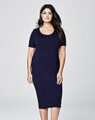 Midi Bodycon Jersey Dress