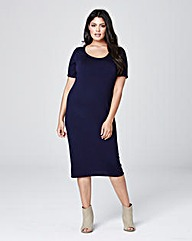 Midi Bodycon Jersey Dress