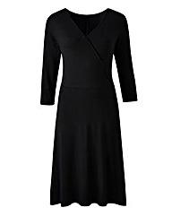 Jersey Mock Wrap Dress