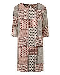 Tile Print Tunic Shift Dress