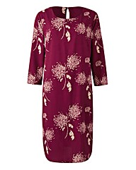 Damson Dandilion Print Tunic Shift Dress