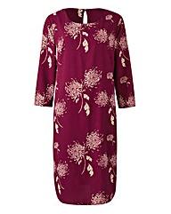 Damson Dandilion Print Tunic Shift Dress