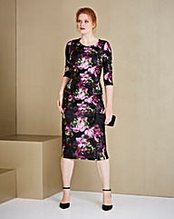 Scuba Print Bodycon Dress