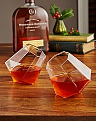Set of two Diamond Whisky Glasses