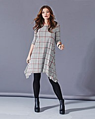 Simply Be Check Design Swing Dress
